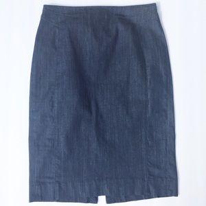 White House Black Market Pencil Jean Skirt